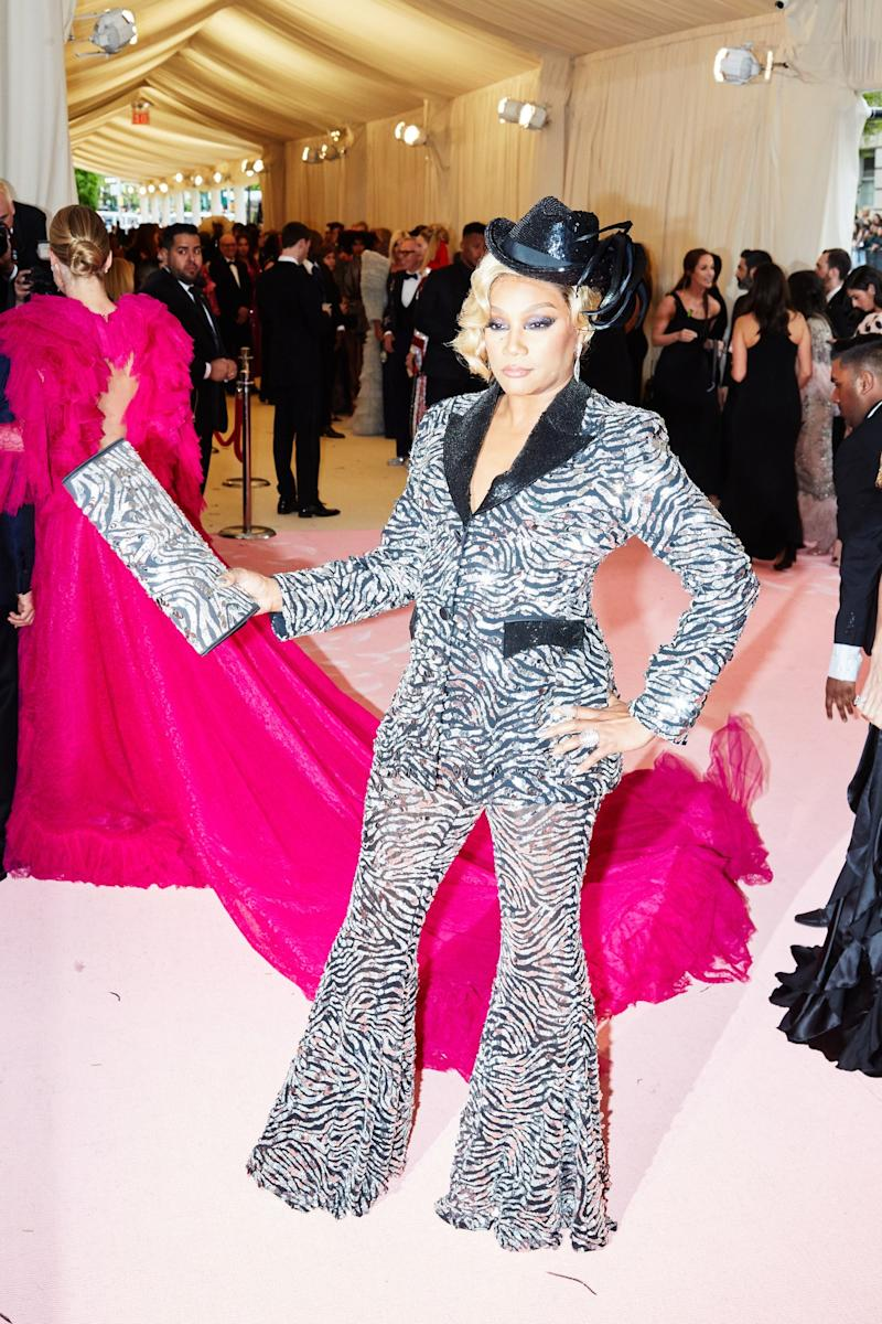 Tiffany Haddish on the red carpet at the Met Gala in New York City on Monday, May 6th, 2019. Photograph by Amy Lombard for W Magazine.