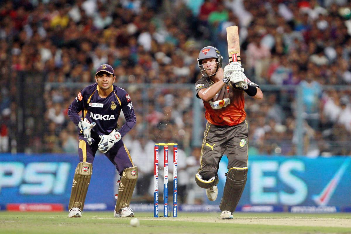 Cameron White during match 17 of the Pepsi Indian Premier League between The Kolkata Knight Riders and the Sunrisers Hyderabad held at the Eden Gardens Stadium in Kolkata on the 14th April 2013.  (BCCI)