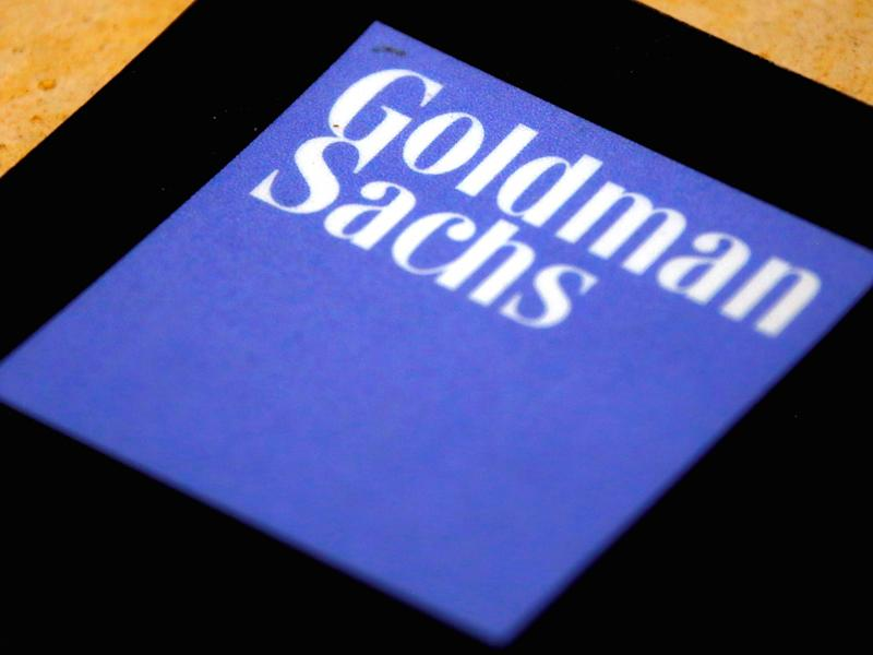 The logo of Goldman Sachs is displayed in their office located in Sydney, Australia, May 18, 2016.