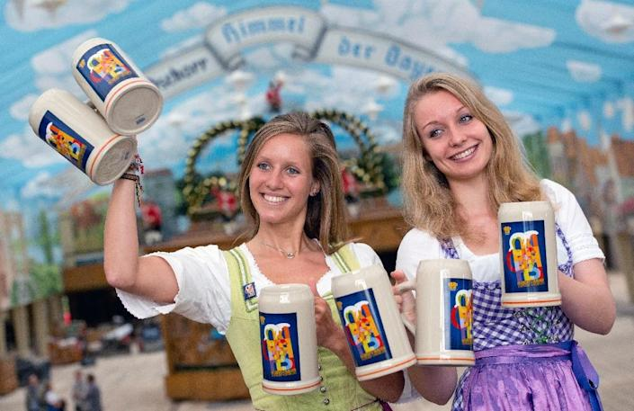 The annual Oktoberfest beer party gets under way in Munich on Saturday (AFP Photo/Sven Hoppe)
