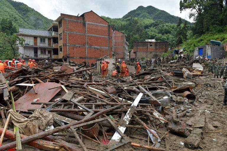 Typhoon Lekima caused losses of more than US$2.2 billion in Zhejiang province (AFP Photo/STR)