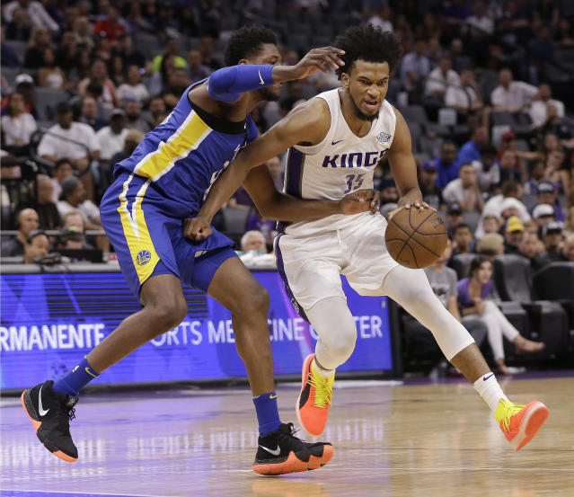 "The <a class=""link rapid-noclick-resp"" href=""/nba/teams/sac"" data-ylk=""slk:Sacramento Kings"">Sacramento Kings</a> selected <a class=""link rapid-noclick-resp"" href=""/nba/players/5959/"" data-ylk=""slk:Marvin Bagley III"">Marvin Bagley III</a> No. 2 overall, with the expectation that he can help end the franchise's 12-year playoff drought. (AP)"