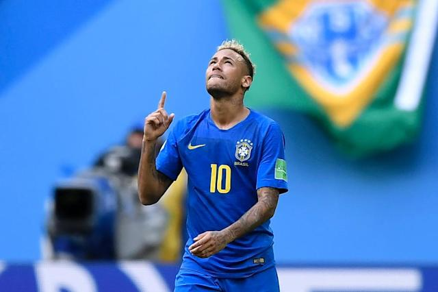 Neymar hit the latest goal in World Cup history (AFP Photo/GABRIEL BOUYS )