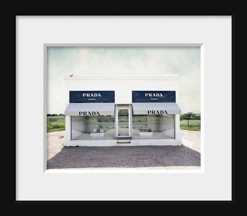 <p>Fashion-lovers will obsess over this <span>Audra Edgington Fine Art Prada Marfa Photograph</span> ($23).</p>