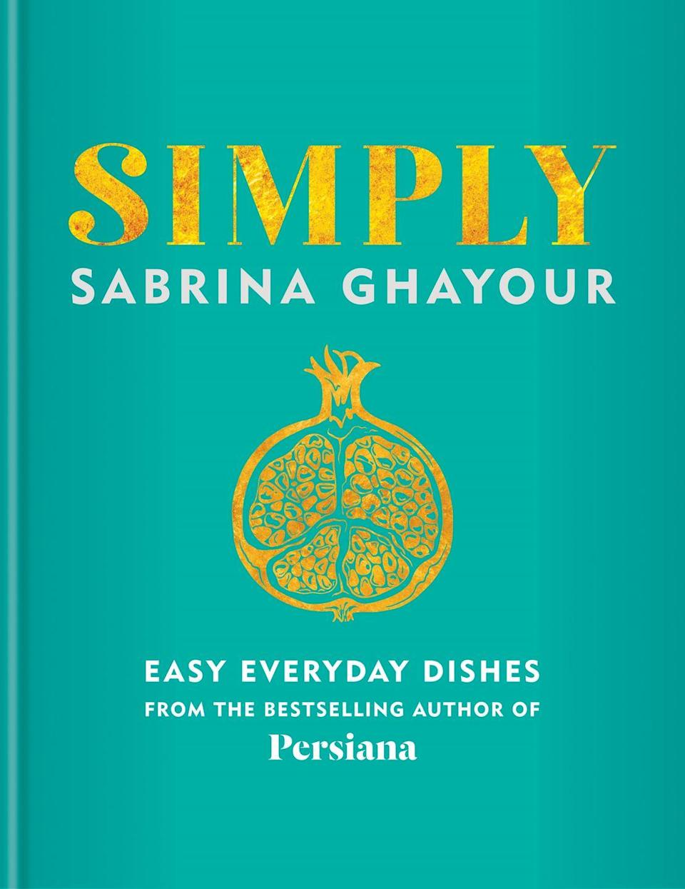 "<p>Maximum flavour with minimum fuss is the focal point of this new book by Sabrina Ghayour (the author of the widely celebrated Persiana), which has chapter names such as 'Effortless Eating' and 'Traditions with a Twist'. Simply provides more than 100 recipes that are bursting with zest and colourful flair, all inspired by Ghayour's Persian roots but adapted with an 'East meets West' approach to suit the modern-day cook. Try your hand at recreating dishes such as spiced pork wraps with green apple salsa, baked sweet potato and za'atar chips, and tahini, almond and orange brownies – just a few examples of the book's host of boldly flavoured recipes designed to spice up any occasion.</p><p><a href=""https://www.amazon.co.uk/Simply-everyday-dishes-bestselling-Persiana/dp/1784725161"" rel=""nofollow noopener"" target=""_blank"" data-ylk=""slk:'Simply' by Sabrina Ghayour"" class=""link rapid-noclick-resp"">'Simply' by Sabrina Ghayour</a> (£26, Mitchell Beazley) is out now.</p>"