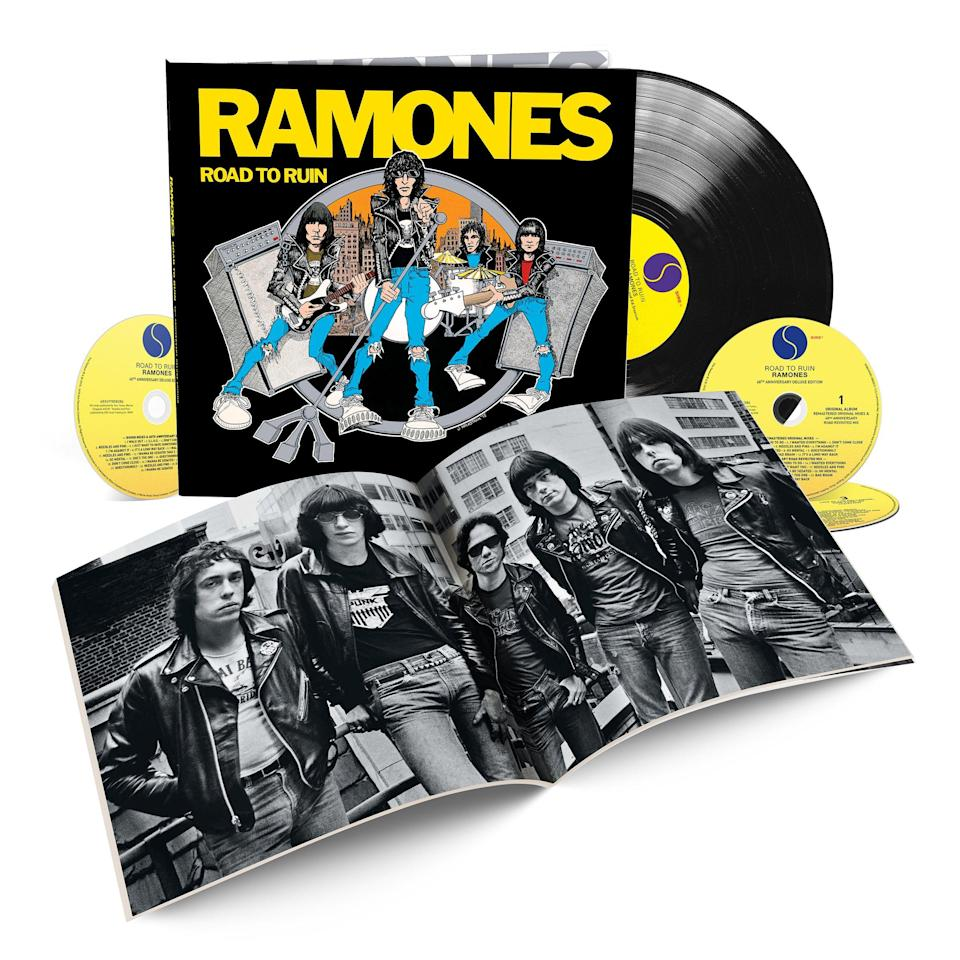 <p>The original Ramones have all sadly passed away, but their punk-pop legacy lives on via this three-CD/one-LP boxed set. Included here are two different mixes of the album, unissued rough mixes for every album track, an unreleased 1979 concert recording of the Ramones in New York, and a 12-by-12-inch hardcover book. </p>
