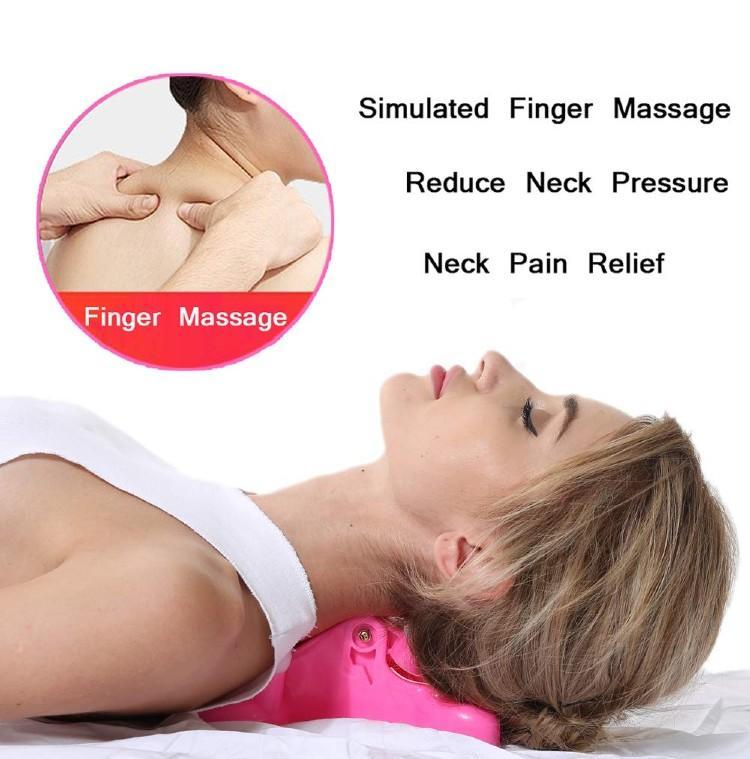 Cervical Pillow Neck and Head Pain Relief Back Massage Traction Device. (Photo: Amazon)