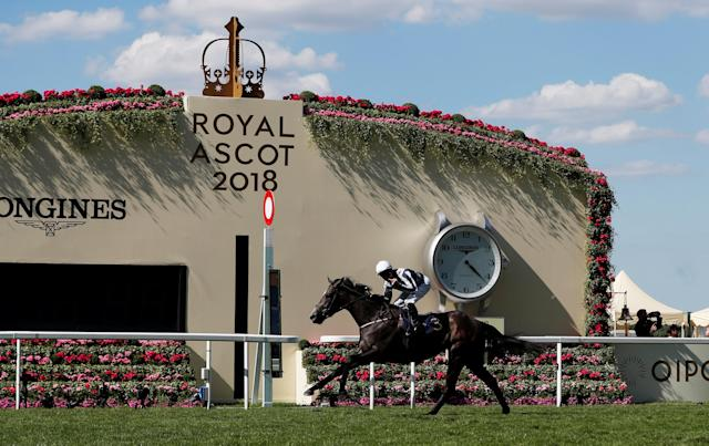 Horse Racing - Royal Ascot - Ascot Racecourse, Ascot, Britain - June 22, 2018 Alpha Centauri ridden by Colm O'Donoghue wins the 4.20 Coronation Stakes Action Images via Reuters/Paul Childs
