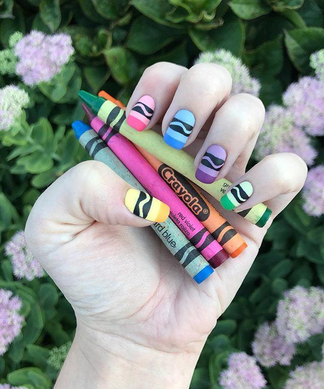 """<p>Everyone's talking about crayon nails! We are 100% hopping on this colorful trend.</p><p><strong><a class=""""link rapid-noclick-resp"""" href=""""https://www.amazon.com/Winstonia-Professional-Striping-Blending-Elongated/dp/B00GD0IQQ6/ref=sr_1_4_s_it?tag=syn-yahoo-20&ascsubtag=%5Bartid%7C10055.g.22590646%5Bsrc%7Cyahoo-us"""" rel=""""nofollow noopener"""" target=""""_blank"""" data-ylk=""""slk:SHOP STRIPE ART BRUSHES"""">SHOP STRIPE ART BRUSHES</a></strong> </p><p><a href=""""https://www.instagram.com/p/BYoqz_OA-cN/?taken-by=sabrinathetennailwitch&hidecaption=true"""" rel=""""nofollow noopener"""" target=""""_blank"""" data-ylk=""""slk:See the original post on Instagram"""" class=""""link rapid-noclick-resp"""">See the original post on Instagram</a></p>"""
