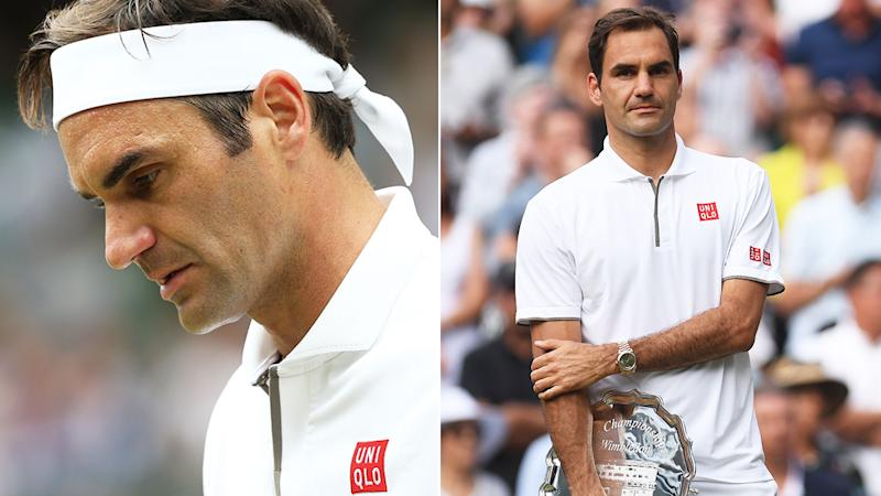 Roger Federer was distraught after losing the Wimbledon final.