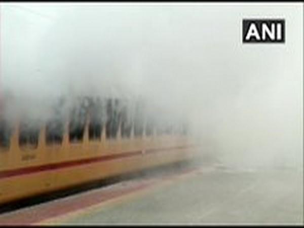 A visual from the incident at Medchal Railway Station on Tuesday.