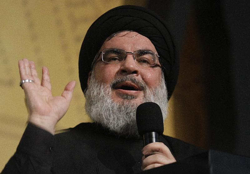 Hassan Nasrallah, the head of Lebanon's militant Shiite Muslim movement Hezbollah said Syrian refugees should not be coerced into going home