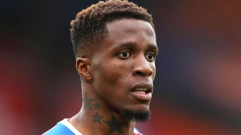 Pictured here, Crystal Palace forward Wilfried Zaha.