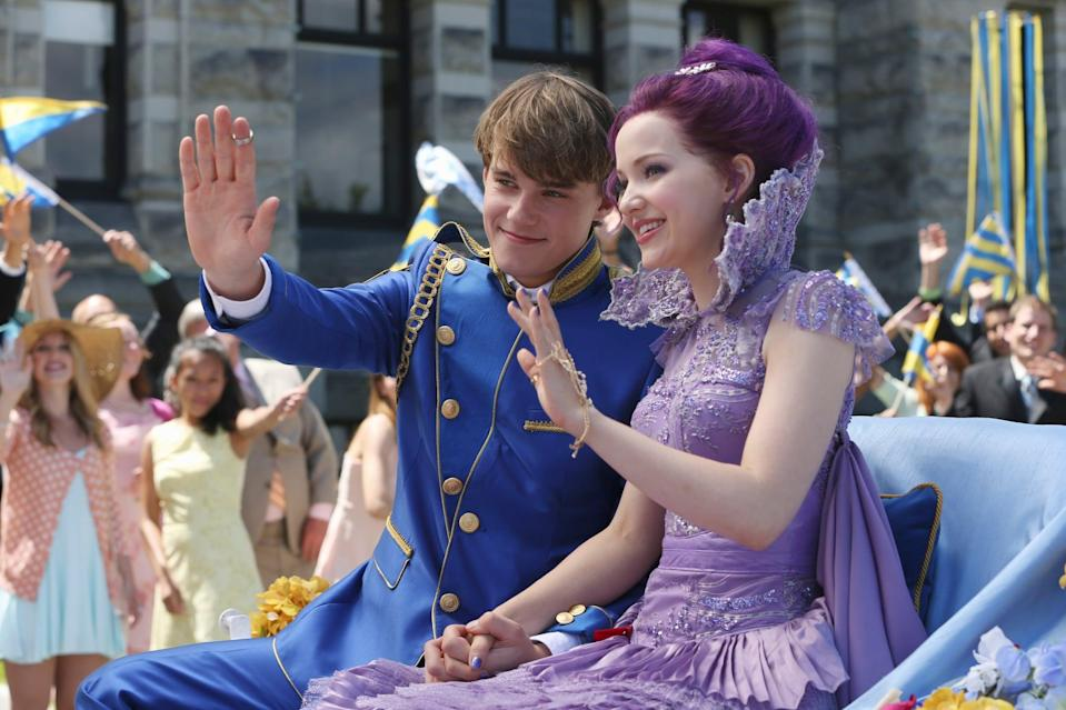 DESCENDANTS, l-r: Mitchell Hope, Dove Cameron, 2015. ph: Jack Rowand/Disney Channel/courtesy Everett Collection