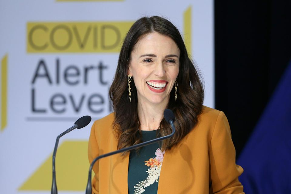 "<h2>Jacinda Ardern, New Zealand<br></h2><br>As the prime minister of New Zealand, Jacinda Ardern has been widely praised for her country's response to the pandemic – both for managing to keep NZ largely COVID-free and for doing so with compassion for the people she governs. By acting early with lockdown orders and aiming to eliminate the virus completely, she's one of the world leaders who has led more people than ever to look at how and why women seem to be doing better <a href=""https://www.inc.com/jessica-stillman/women-leaders-covid-jacinda-ardern.html"" rel=""nofollow noopener"" target=""_blank"" data-ylk=""slk:in the crisis"" class=""link rapid-noclick-resp"">in the crisis</a>. <span class=""copyright"">Photo Courtesy of Getty Images.</span>"