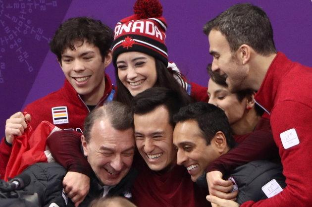 Patrick Chan helped Canada win gold in the team event in PyeongChang.