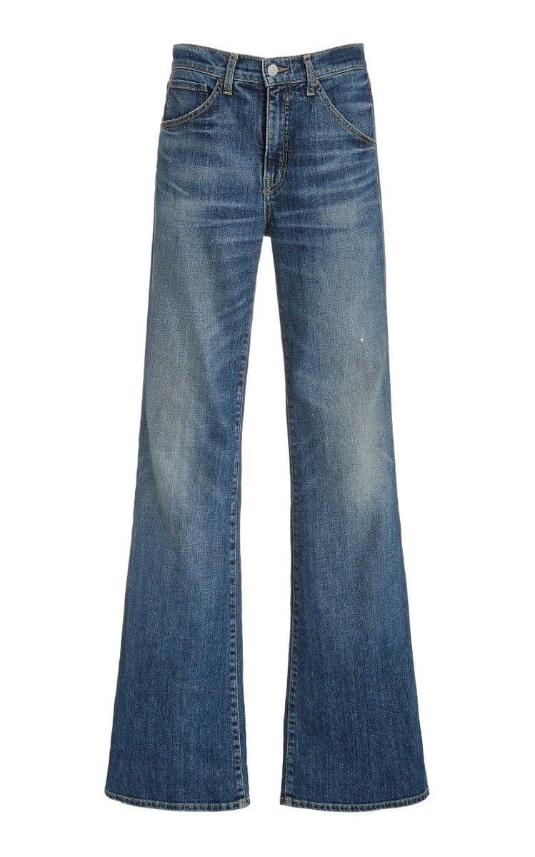 <p><span>Nili Lotan Celia Stretch High-Rise Flared-Leg Jeans</span> ($395)</p>
