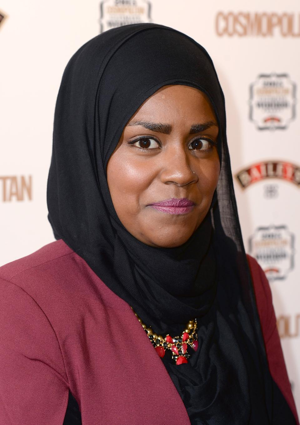Nadiya Hussein arriving at the Cosmopolitan Ultimate Women of the Year Awards at One Mayfair, London. Photo credit should read: Doug Peters EMPICS Entertainment