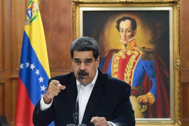 PHOTO: Venezuela's President Nicolas Maduro speaks during in a meeting with the Bolivarian armed forces at Miraflores Palace in Caracas, Venezuela May 4, 2020. Picture taken May 4, 2020. (Miraflores Palace/via Reuters)