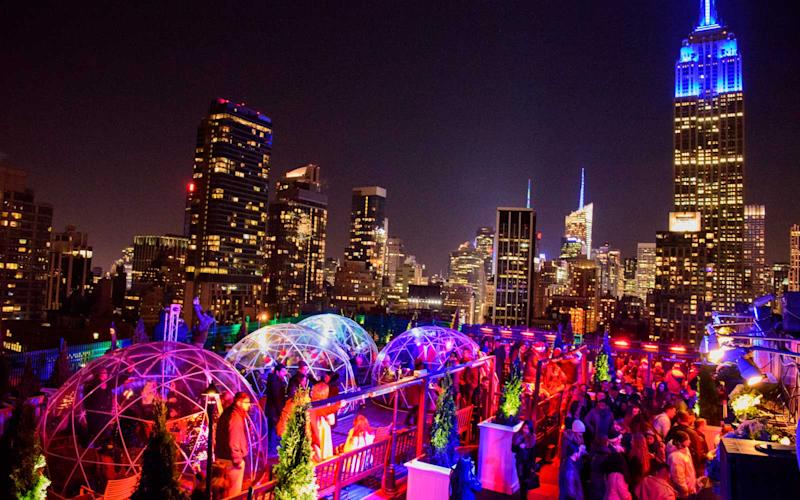 @NVSHUTTER/Courtesy of Igloo Bar at 230 Fifth Rooftop