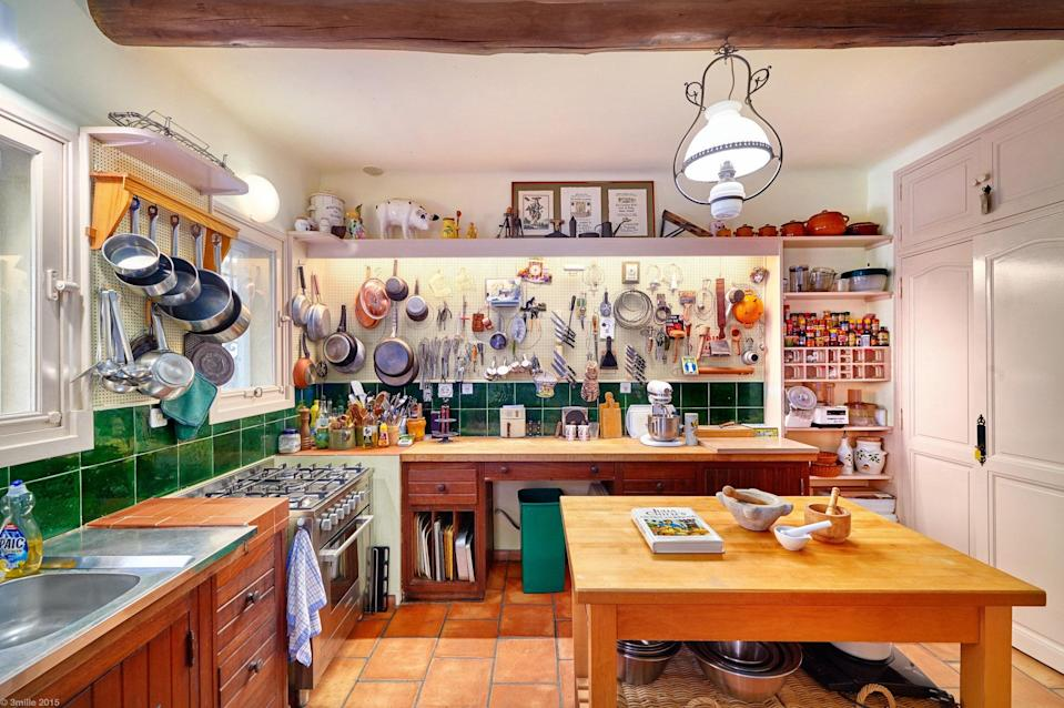 "<p>This is <a href=""https://www.cntraveler.com/stories/2016-04-04/rent-julia-childs-house-in-provence-starting-this-june?mbid=synd_yahoo_rss"" rel=""nofollow noopener"" target=""_blank"" data-ylk=""slk:Julia Child's home"" class=""link rapid-noclick-resp"">Julia Child's home</a>. We repeat, Julia Child's home. Yes, the three-bedroom home is quite expensive to rent. But the chance to cook in the <em>Mastering the Art of French Cooking</em> author's own kitchen is priceless. You'll also get access to the home's pool, ivy-covered patio, the terraced gardens, and antiques once used by Julia and her husband Paul after they built the home in the 1960s. One thing the home doesn't have? Strong Wi-Fi. ""We make absolutely no guarantees regarding the Wi-Fi. You may have it, you may not,"" the home's description reads.</p> <p>In the off-season, the home is actually used as a cooking school between April through June, and again September though October (<a href=""http://www.lapeetch.com/"" rel=""nofollow noopener"" target=""_blank"" data-ylk=""slk:find info about that here"" class=""link rapid-noclick-resp"">find info about that here</a>)—you can also organize cooking classes and local farmer's market tours at an extra cost during your stay.</p> <p><strong>Book now:</strong> <a href=""https://airbnb.pvxt.net/k1d3v"" rel=""nofollow noopener"" target=""_blank"" data-ylk=""slk:From $576 per night, airbnb.com"" class=""link rapid-noclick-resp"">From $576 per night, airbnb.com</a></p>"