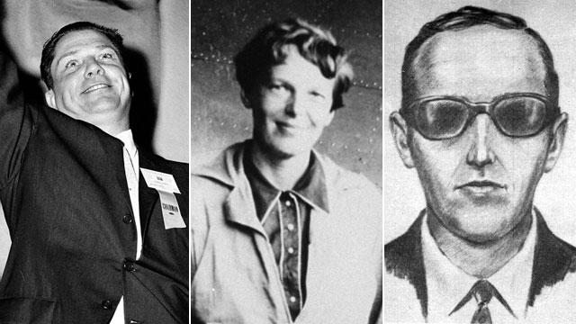 What Happened to Amelia Earhart, Jimmy Hoffa and D.B. Cooper?