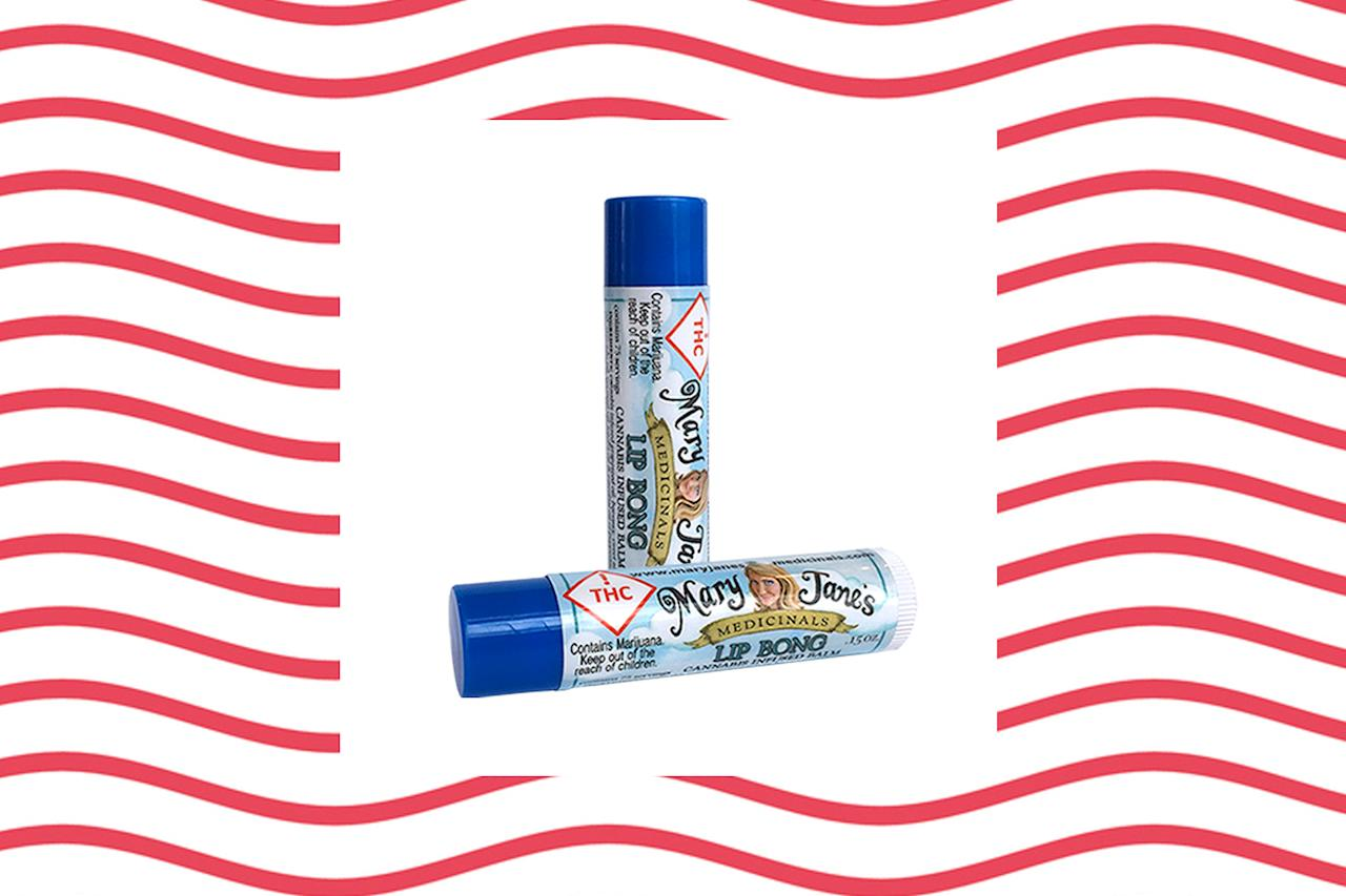 "<p>Cannabis-infused lip balm? Why not? This plant-oil-based balm works well on cold sores and also has a nice hint of peppermint. If you have a headache, you can also rub it on your temples for soothing relief. Visit <a rel=""nofollow"" href=""http://maryjanesmedicinals.com/products/lip-bong/"">maryjanesmedicinals.com</a> for retailers (Photo: Mary Jane's/Getty) </p>"