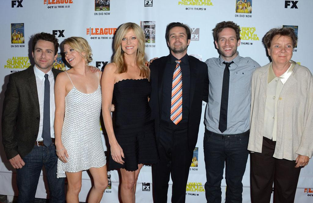 "The cast of ""It's Always Sunny In Philadelphia"" arrives at the Premiere Screenings of FX's ""It's Always Sunny In Philadelphia"" Season 8 and ""The League"" Season 4 at ArcLight Cinemas on October 9, 2012 in Hollywood, California."