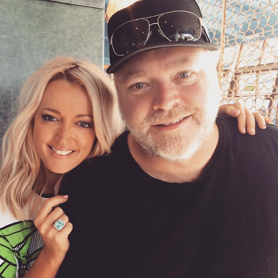 Kyle Sandilands and Jackie O take a selfie together.