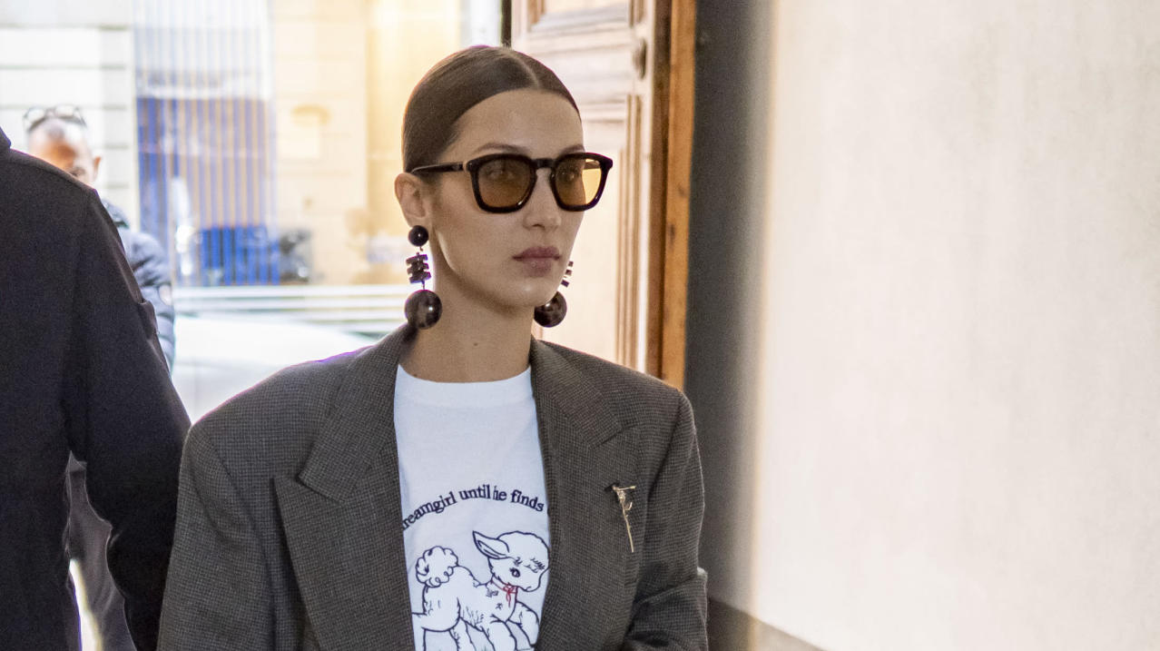 Bella Hadid Spotted With 195 Lulu Guinness Bag During Fashion Week