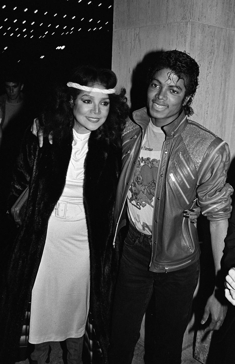 Michael and LaToya pictured in 1983. Source: Getty