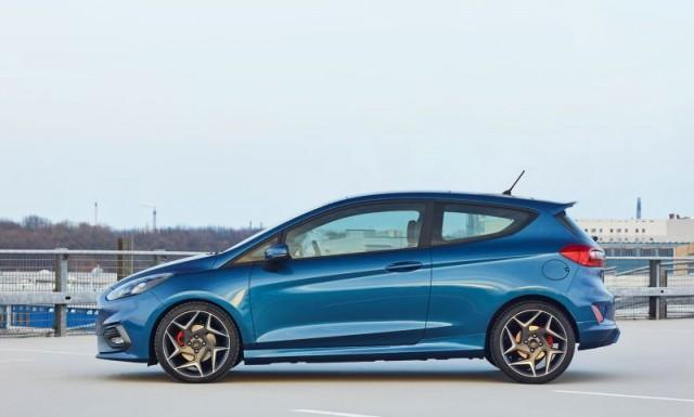 Blue 2018 Ford Fiesta ST side view