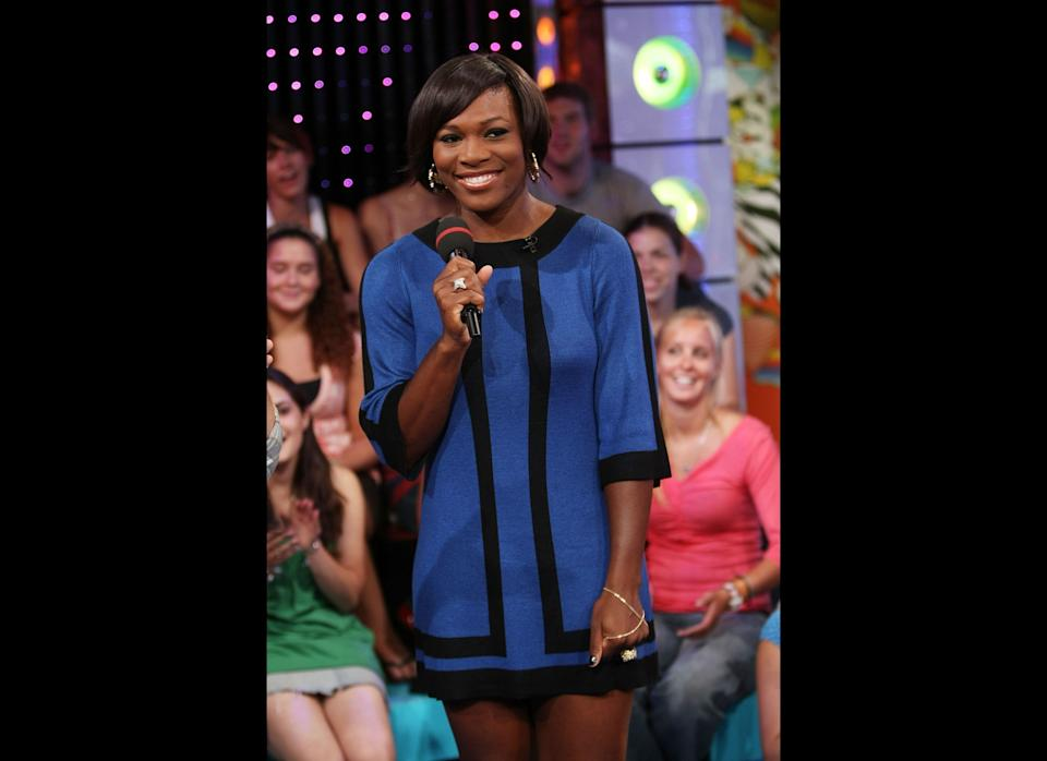 Channeling Chanel at MTV's Total Request Live at the MTV Times Square Studios in New York City.