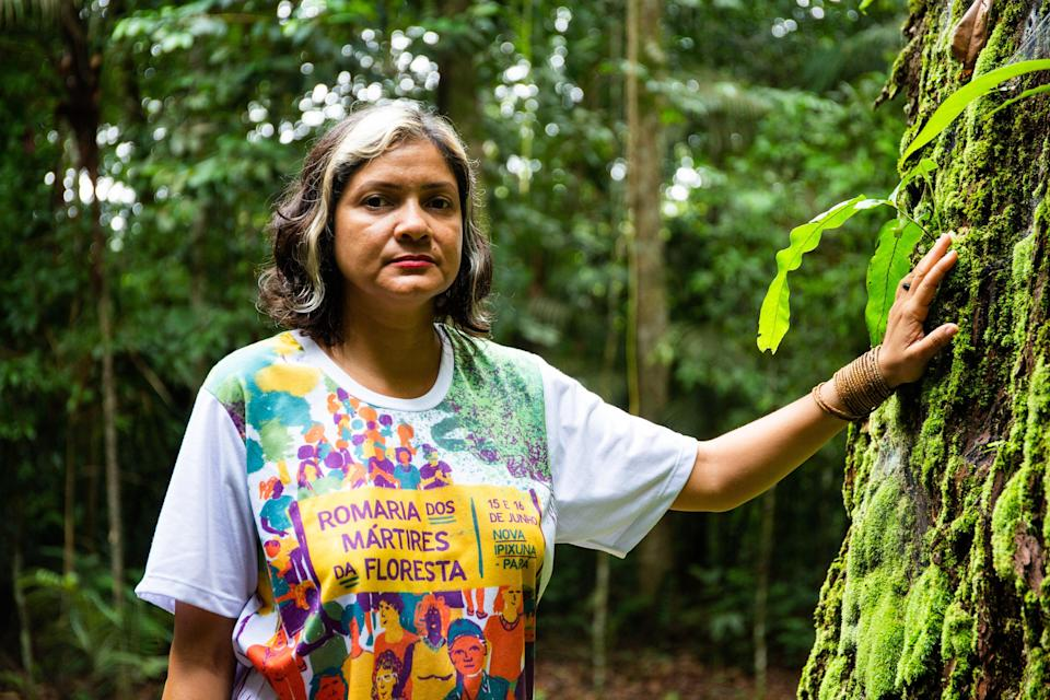 <p>Claudelice's brother and sister-in-law were killed for their 'crime' of trying to protect the Brazilian Amazon</p> (Cafod)