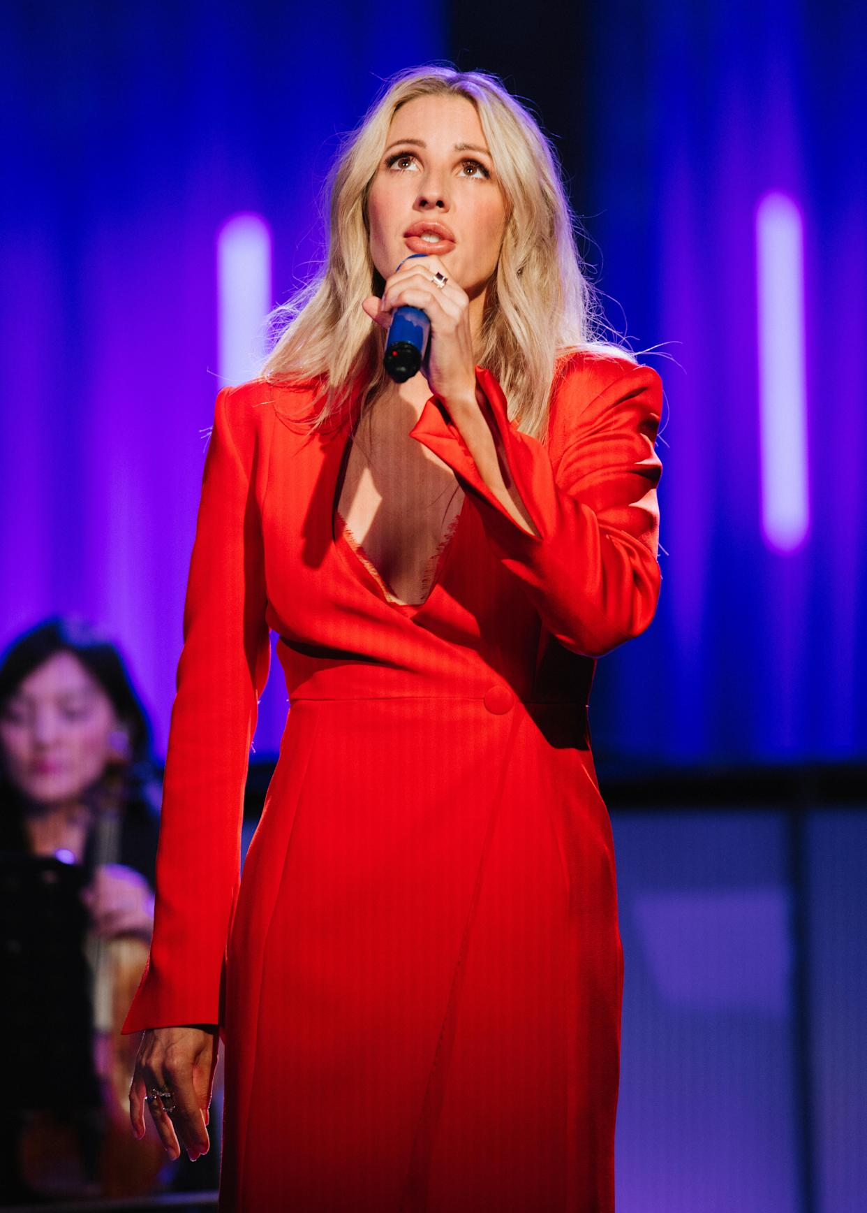 Ellie Goulding performs at The V&A on August 26, 2020 in London, England. The performance was live streamed for ticket holders during the COVID-19 pandemic. (Photo by Jennifer McCord via Getty Images)
