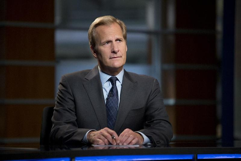 """This undated publicity image released by HBO shows Jeff Daniels as Will McAvoy in the news drama series, """"The Newsroom."""" The second season premieres Sunday, July 14, at 10 p.m. on HBO. (AP Photo/HBO, Melissa Moseley)"""