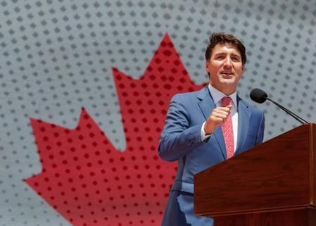 Canada's Trudeau says won't back down in dispute with China, urges restraint in Hong Kong