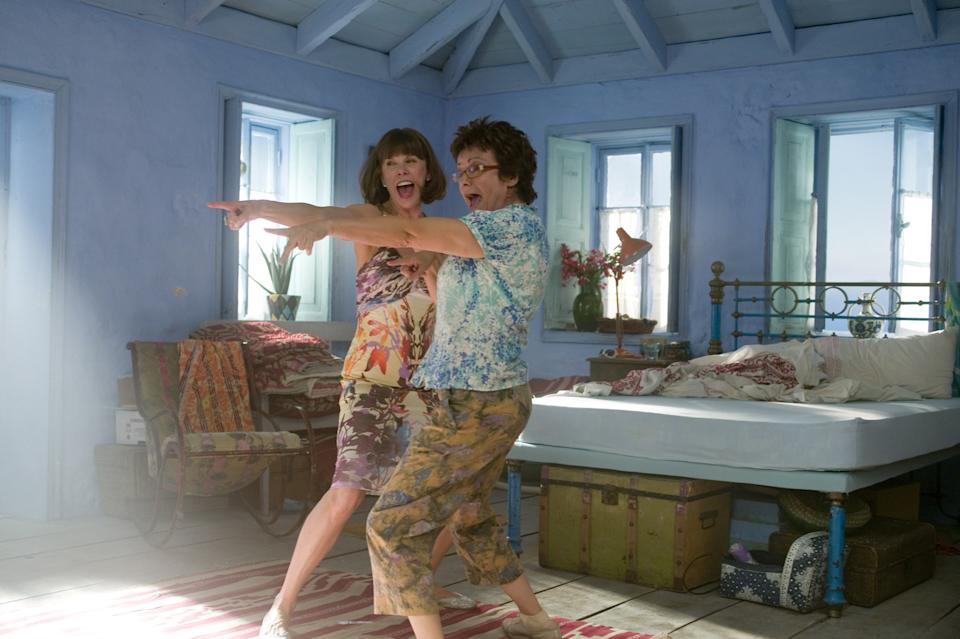 Want to recreate the Grecian-inspired decor in 'Mama Mia'? All it takes is a lick of paint. (Universal Pictures)