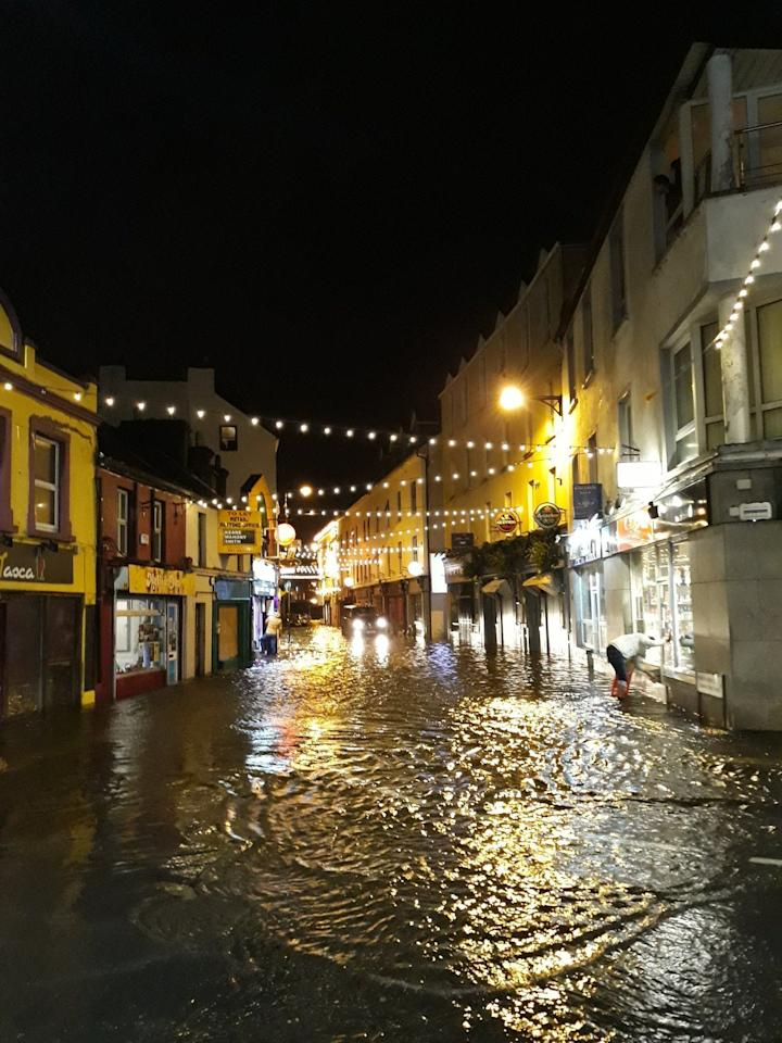 <p>The city of Galway in Ireland is flooded as Storm Eleanor swamps the country (Twitter/Michael Scott) </p>