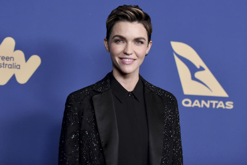 Ruby Rose attends the 8th Annual Australians in Film Awards at the InterContinental Hotel on Wednesday, Oct. 23, 2019, in Los Angeles. (Photo by Richard Shotwell/Invision/AP)