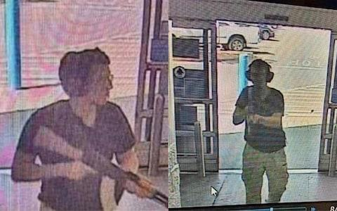 This CCTV image obtained by KTSM 9 news channel reportedly shows the gunman entering the Cielo Vista Walmart store in El Paso on august 3, 2019. - Credit:  COURTESY OF KTSM 9