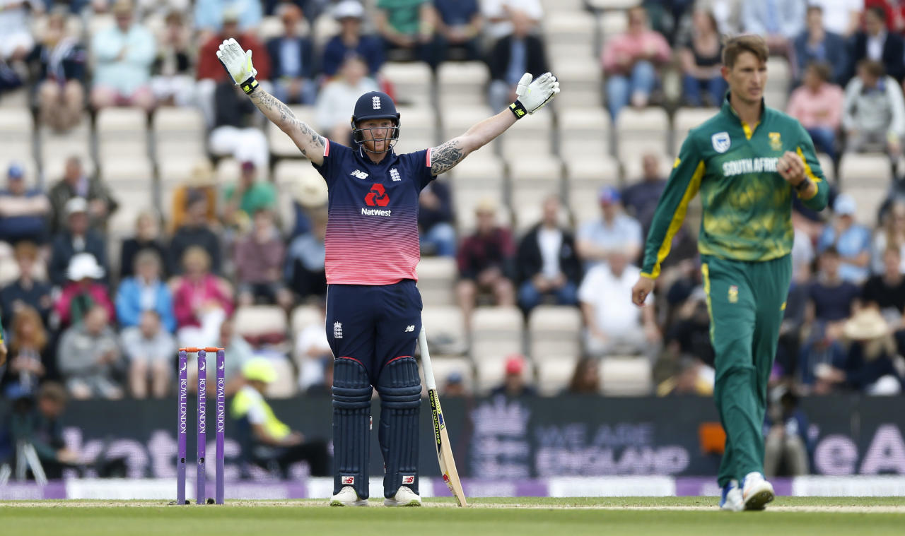 Britain Cricket - England v South Africa - Second One Day International - Ageas Bowl - 27/5/17 England's Ben Stokes gestures Action Images via Reuters / Matthew Childs Livepic