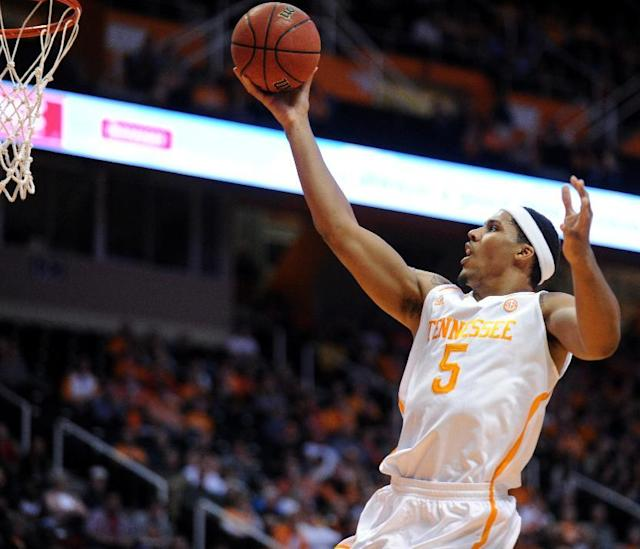 Tennessee's Jarnell Stokes gets to the basket against South Carolina-Upstate during the first half of an NCAA college basketball game at Thompson-Boling Arena in Knoxville, Tenn., Saturday, Nov. 16, 2013. (AP Photo/The Knoxville News Sentinel, Amy Smotherman Burgess)