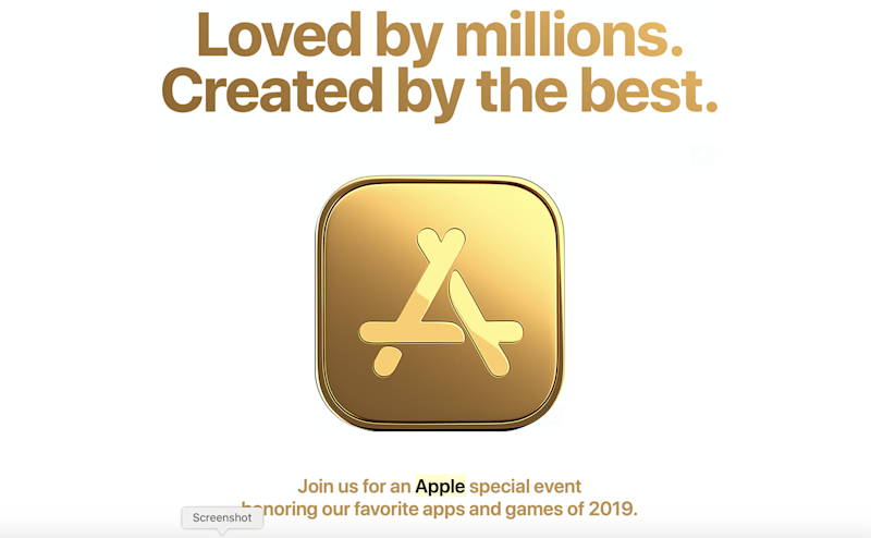 Apple is hosting a special event in New York to honor favorite apps and games.