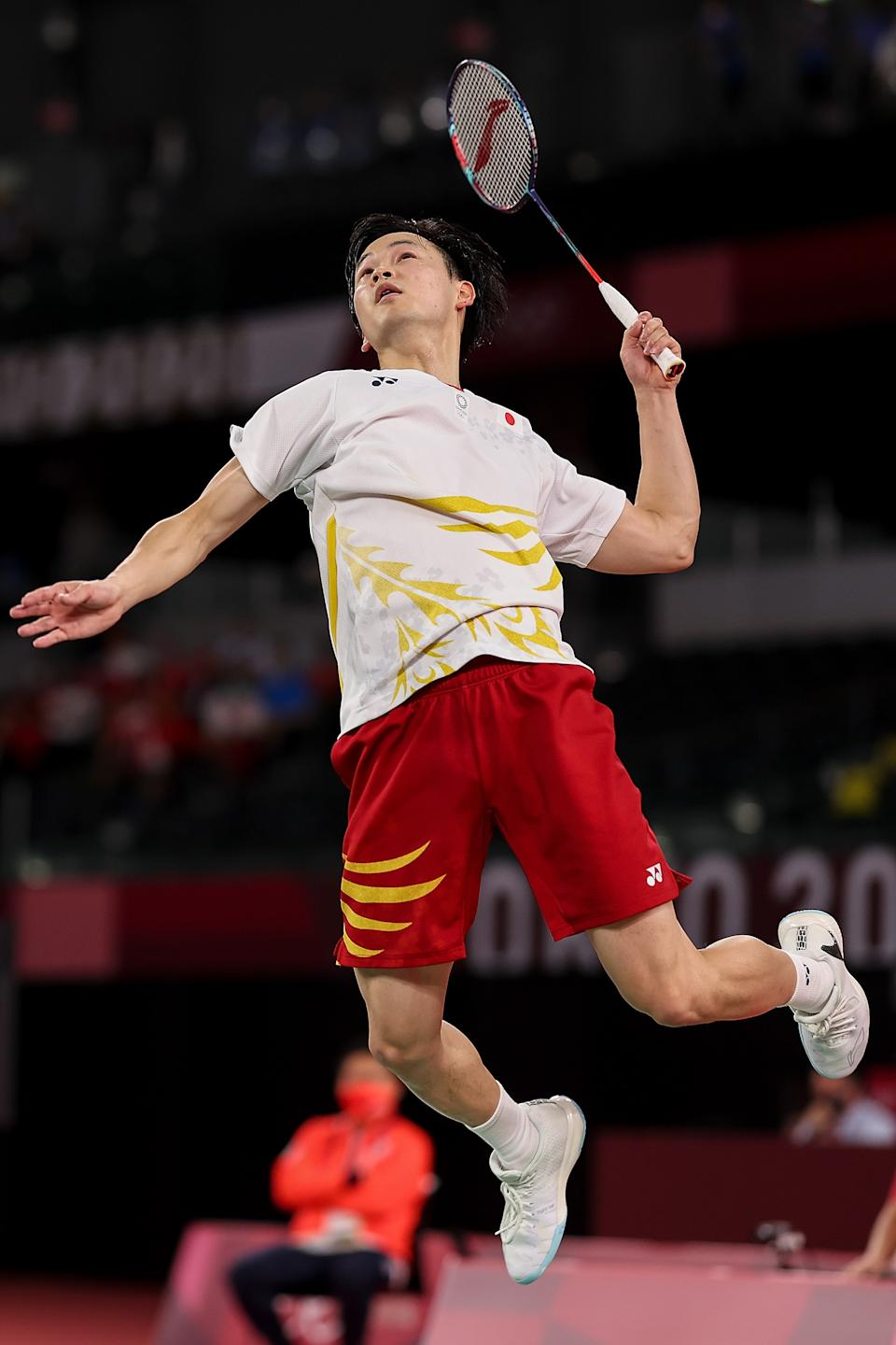 <p>Yuta Watanabe and Arisa Higashino(not in picture) of Team Japan compete against Wang Yi Lyu and Huang Dong Ping of Team China during a Mixed Doubles Semi-final match on day six of the Tokyo 2020 Olympic Games at Musashino Forest Sport Plaza on July 29, 2021 in Chofu, Tokyo, Japan. (Photo by Lintao Zhang/Getty Images)</p>
