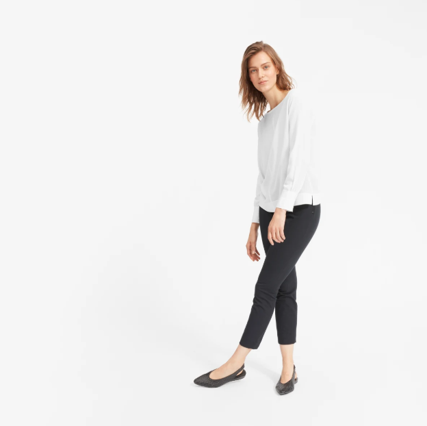 The Clean Silk Boatneck Blouse