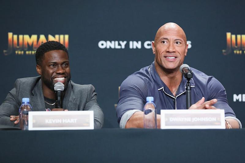 Kevin Hart and Dwayne Johnson | Victor Chavez/Getty