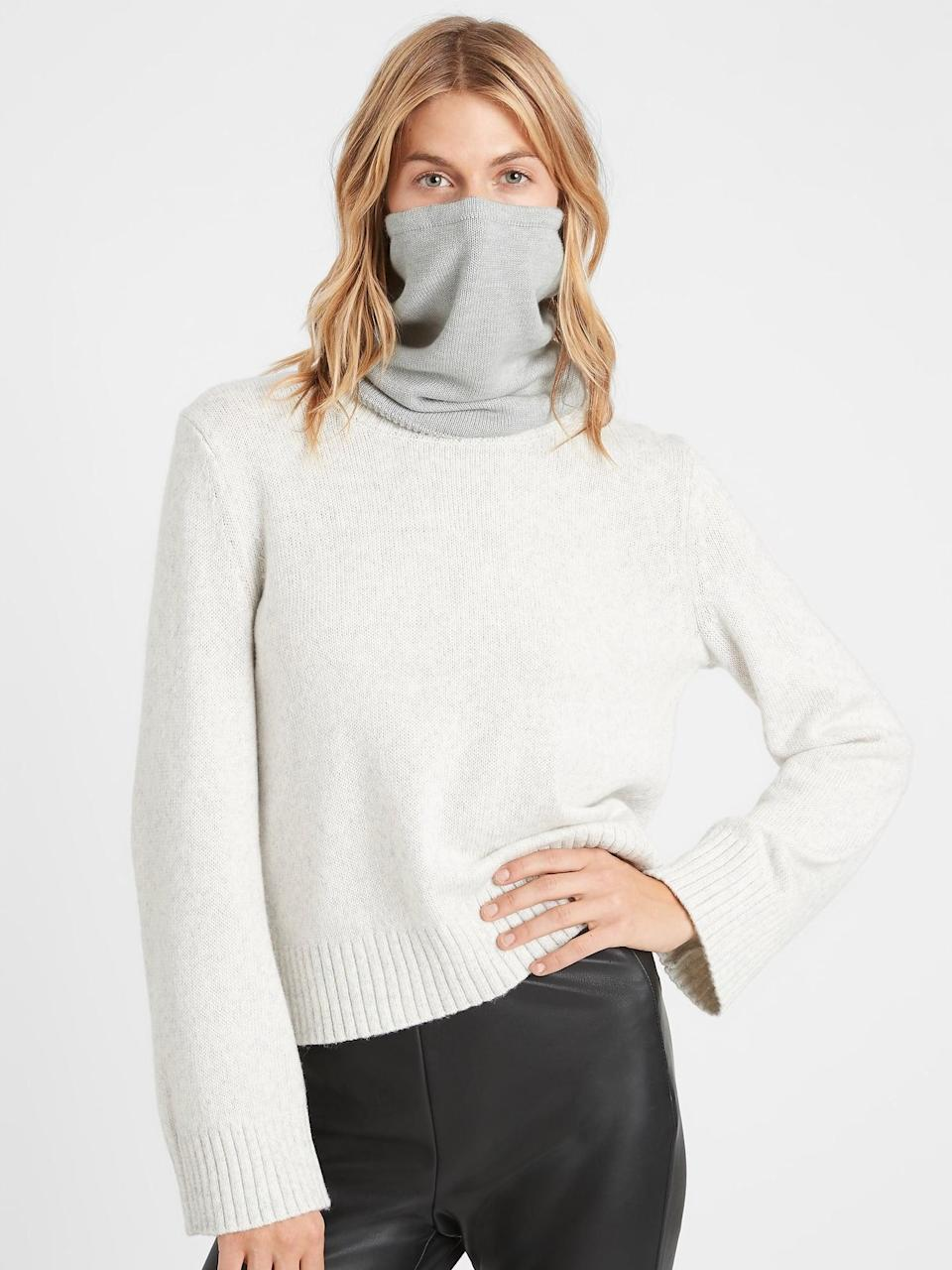 <p>When battling some serious wind chill, slip a <span>Banana Republic Sweater Gaiter</span> ($24-$31, originally $48) on over your favorite protective mask.</p>
