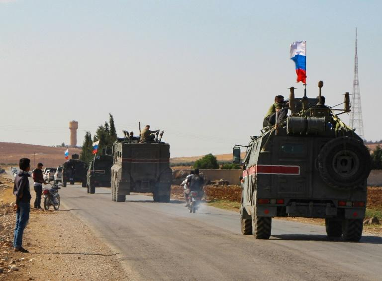 Russian forces have started patrols along the Syria-Turkey border, filling the vacuum left by a US troop withdrawal that effectively handed back a third of the country to the Moscow-backed regime of President Bashar al-Assad (AFP Photo/-)