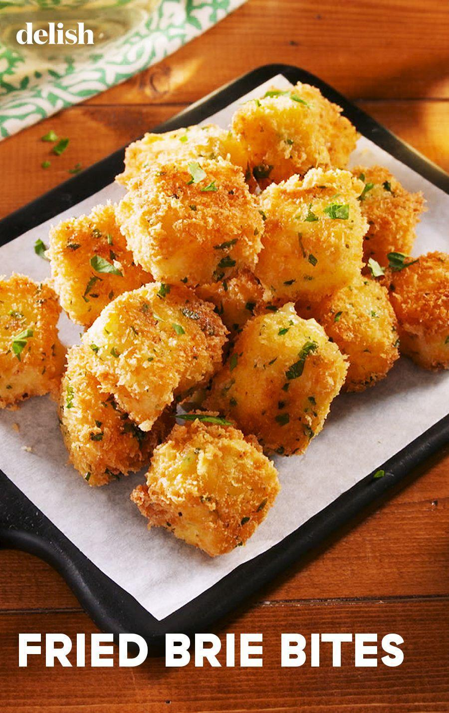 """<p>What's better than creamy brie? Fried bites that melt in your mouth.</p><p>Get the recipe from <a href=""""https://www.delish.com/cooking/recipe-ideas/a25429974/fried-brie-bites-recipe/"""" rel=""""nofollow noopener"""" target=""""_blank"""" data-ylk=""""slk:Delish"""" class=""""link rapid-noclick-resp"""">Delish</a>. </p>"""